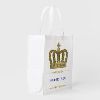 Goldene königliche Krone II + Ihr backgr. u. Ideen Einkaufstaschen
