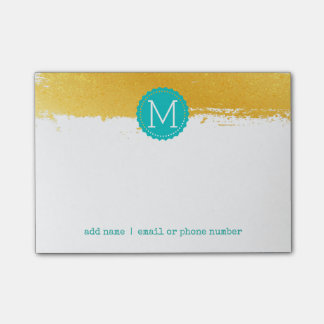 Goldene kundenspezifische Monogramme Posten-it® Post-it Klebezettel