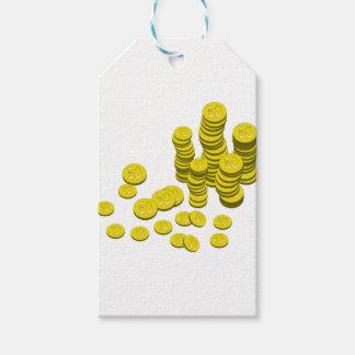 Goldene Münzen Geschenkanhänger