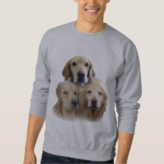 Goldene Retriever-fabelhaftes Gesichts-Sweatshirt Sweatshirt