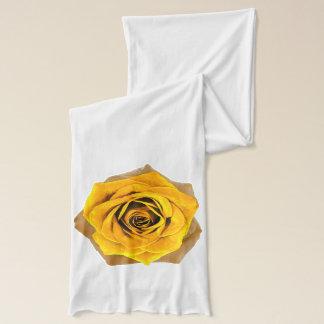 Goldene Rose gezeigt auf Weiß Schal