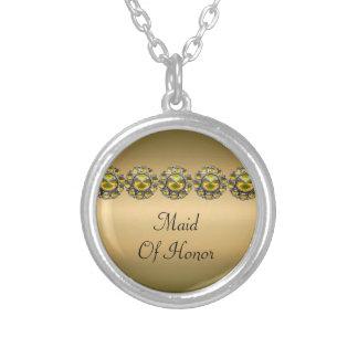 Goldene Schätze Bejeweled Hochzeit Versilberte Kette