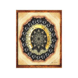 Goldene schwarzer Diamant-eingewickelte Gespannter Galeriedruck