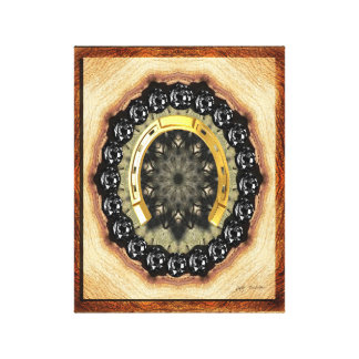 Goldene schwarzer Diamant-eingewickelte Leinwanddruck