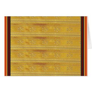 Goldene Silk Gewebe-Schablone DIY addieren Grußkarte