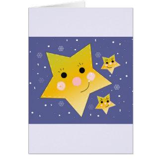 Goldene smiley-Sterne auf einem blauer Karte