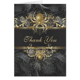 Goldene Spinne danken Ihnen Hochzeits-Karte Grußkarte