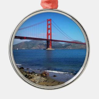 Goldene Staats-Brücke - San Francisco, Kalifornien Silbernes Ornament