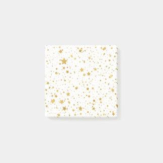 Goldene Stars2 - Reines Weißes Post-it Klebezettel