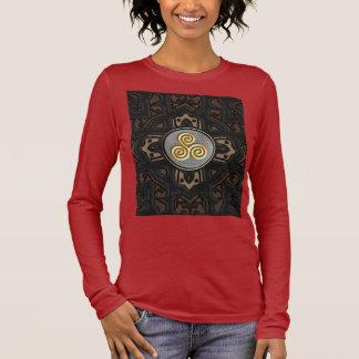 Goldene Triskele dekorative T-Shirts