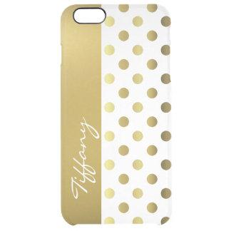 Goldene Tupfen klären iPhone 6 Plusfall Durchsichtige iPhone 6 Plus Hülle