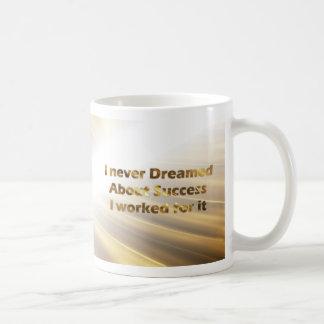 Goldene Typografie-Tassen-goldene Zitat-Tasse Tasse