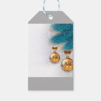 Goldene Verzierungen Geschenkanhänger