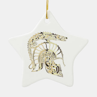 GOLDENER DRACHE KERAMIK ORNAMENT