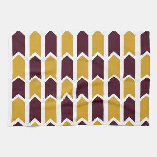 Goldener karierter Platten-Zaun Geschirrtuch
