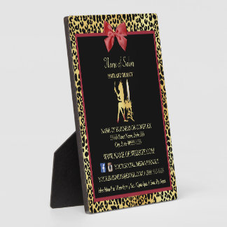 Goldener Kronen-Leopard-rotes Fotoplatte