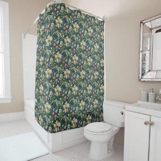 Goldener Lilien-Duschvorhang Duschvorhang