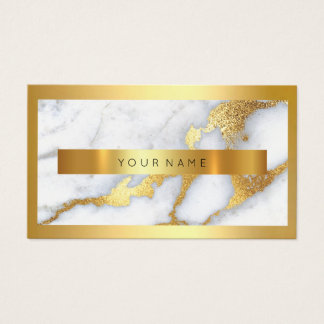 Goldener Rahmen-metallisches weißes Visitenkarte