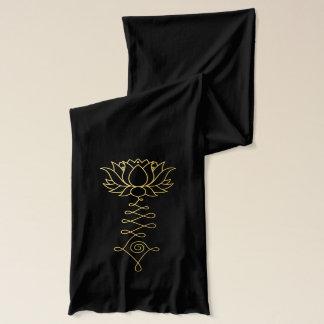 Goldener schwarzer Jersey Schal Lotuss