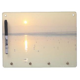 Goldener Sonnenaufgang-trockenes Löschen-Brett Trockenlöschtafel Mit Schlüsselanhängern