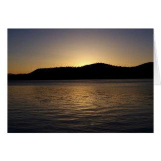 Goldener Sonnenuntergang Grußkarte