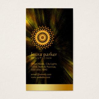 Goldener Visitenkarte