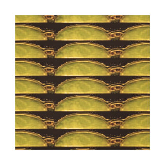 Goldenergie von der Vintagen ägyptischen PYRAMIDE Gespannter Galeriedruck