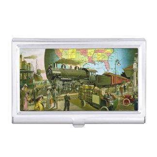 Goldenes Alter der Reise Vintag Visitenkarten Etui