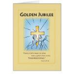 Goldenes Blau des Jubiläum-2680 mit Kreuz Grußkarten