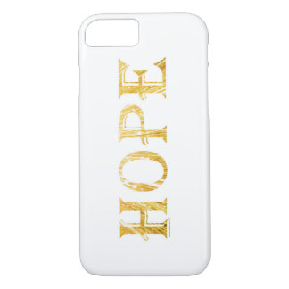 Goldenes Hoffnungs-Text-Apple iPhone 7, kaum dort iPhone 8/7 Hülle