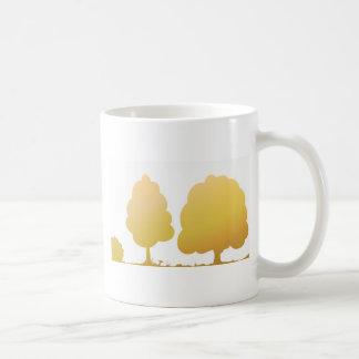 Goldenes Holz Kaffeetasse