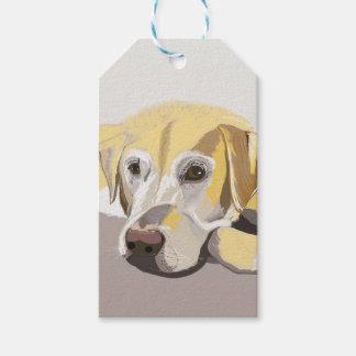 Goldenes Labrador Geschenkanhänger