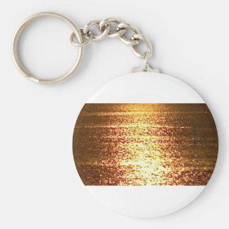 goldenes Meer Schlüsselanhänger