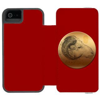 Goldenes RAM oder Widder - Chinese + Western Incipio Watson™ iPhone 5 Geldbörsen Hülle