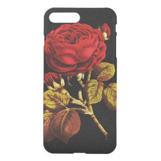 Goldenes Rot gemalte Rose iPhone 7 Plus Hülle