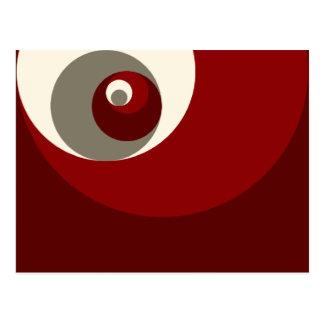 Goldenes Verhältnis kreist ein (Rot) Postkarte