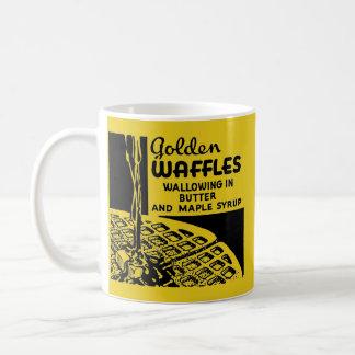 Goldenes Waffel-Frühstück Tasse