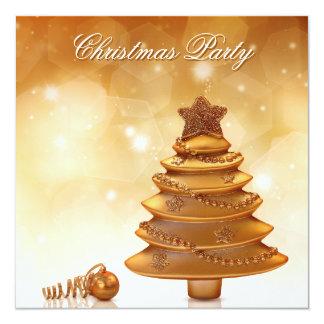 Goldenes Weihnachten - Party Einladung