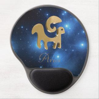 Goldenes Zeichen des Widders Gel Mousepad