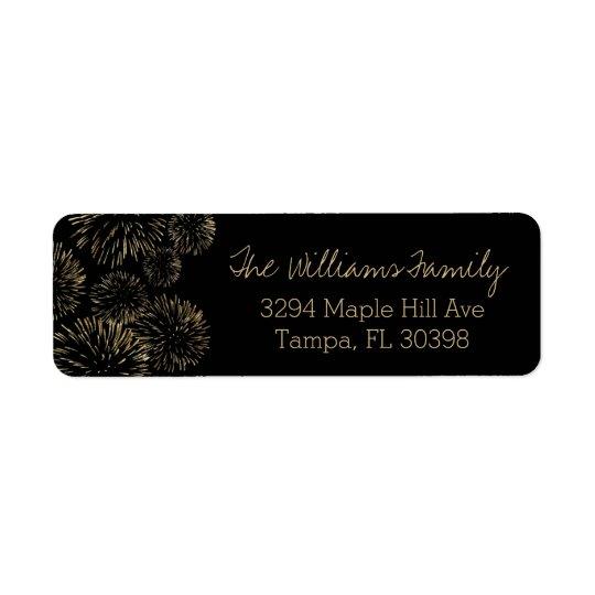 GoldFeuerwerks-Adressen-Etikett Rückversand-Adressaufkleber