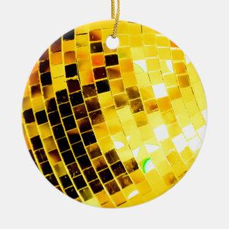 Goldflippiger Disco-Ball Keramik Ornament