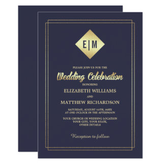 Goldfolien-elegante Hochzeits-Einladungen des Karte