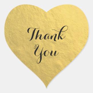 Goldfolien-Herz danken Ihnen Aufkleber