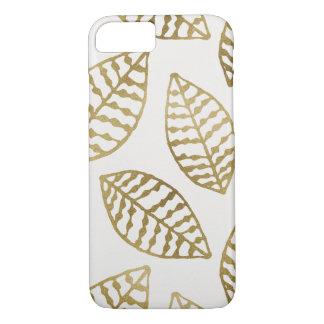 Goldfolien-und -creme-Blätter iPhone 8/7 Hülle