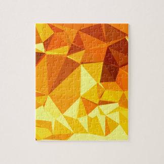 Goldgelbe Bananen-abstrakter niedriger Puzzle