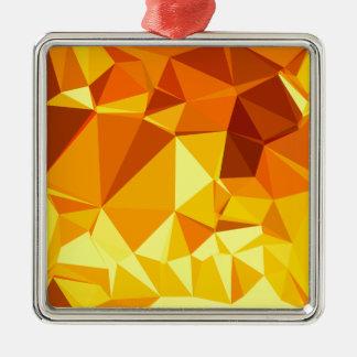 Goldgelbe Bananen-abstrakter niedriger Silbernes Ornament