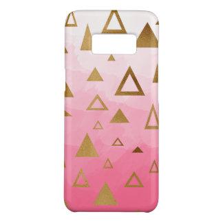 Goldgeometrische Dreieck-Pastellrosa Brushstrokes Case-Mate Samsung Galaxy S8 Hülle