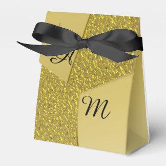 GoldGlitter-Effekt-personalisierte Hochzeit Geschenkschachtel