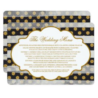 GoldGlitter-Glamour-Hochzeits-Menü Karte