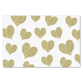 GoldGlitter-Herzen Seidenpapier